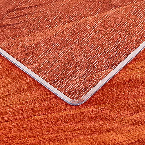 Lqdp Caminos de Mesa Mantel de plástico para encimera de Acero Inoxidable, tapete Rectangular de Vinilo para Silla Enrollable/Cubierta de Alfombra, 1,5 mm / 2 mm de Espesor