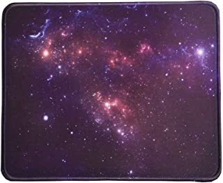 MissOwl Mouse Pad Rubber Base Mat Stitched Edges for Desktop Computer Notebook Office Home Working Desk Decor Night Star