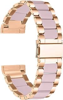 Jennyfly Bracelet de montre en résine compatible avec Fitbit Versa 3, bracelet de rechange confortable avec boucle en acie...