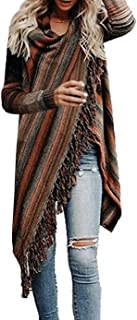 Women's Open Front Knited Tassels Slash Loose Cardigan...