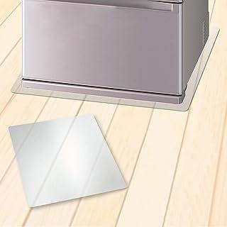 冷蔵庫 マット キズ防止 凹み防止 床保護シート マットキズした傷防止 凹み防止 防振マット Mサイズ 65×70cm 〜500Lクラス 無色 透明 冷蔵庫マット 冷蔵庫 防音マット 防音シート (冷蔵庫マグネット1個)