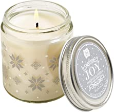 Hillhouse Naturals JJ Joy Jar Scented Candle with Lid, 3.5 oz, Pine and Spicy Cinnamon