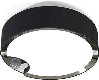 WOOPHEN Motion Sensor Ceiling Light Battery Operated Super Bright Indoor Wireless LED Light, 300LM White Light (Black)