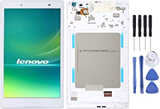 Zhouzl Mobile Phone LCD Screen LCD Screen and Digitizer Full Assembly with Frame for Lenovo Tab 2 A8-50 A8-50F A8-50LC(White) LCD Screen (Color : White)
