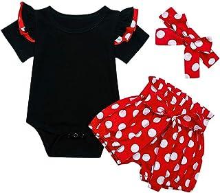 Camisa sin Mangas Floral + Pantalones Cortos + Cintas de Pelo Conjunto Verano Ropa para Ninas Bebe