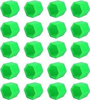 Larcele Silikon Radschraubenkappen Deckel Rad Lug Mutter Abdeckungen,20 Stücke LSBHT 02 (Leuchtend Grün, 17mm) MEHRWEG