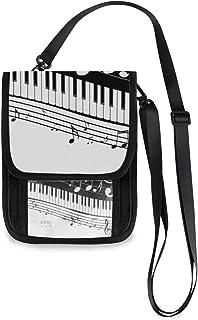 Portafogli per telefono Portafogli per ragazze Portamonete Grande capacità Borsa Tasti per pianoforte astratti con porta c...