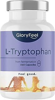 L-Tryptofan, 500 mg per Kapsel, Essentiell Aminosyra, 240 Kapslar, Från Växtbaserad Fermentering, Laboratorietestad, Högko...