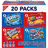 One Classic Mix Variety Pack with 20 snack packs, including OREO Mini, CHIPS AHOY! Mini, Nutter Butter Bites, RITZ Bits Cheese (packaging may vary) The same great flavors you already know in bite-size assorted snacks Pack these lunch snacks in your l...