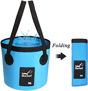 Collapsible Bucket, Esthesia 5 Gallon Bucket Multifunctional Portable Collapsible Wash Basin Folding Bucket Water Containe...