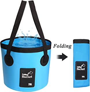 Collapsible Bucket, Esthesia 5 Gallon Bucket Multifunctional Portable Collapsible Wash Basin Folding Bucket Water Container Fishing Bucket for Travelling Camping Hiking Fishing Gardening