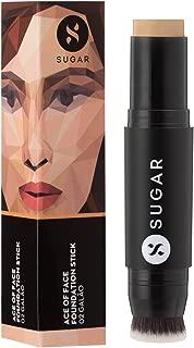 SUGAR Cosmetics Ace Of Face Foundation Stick 02 Galão (Light Medium), 12 g
