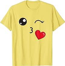Halloween Kids Group Costume SHIRT Kiss Emoji T-Shirt