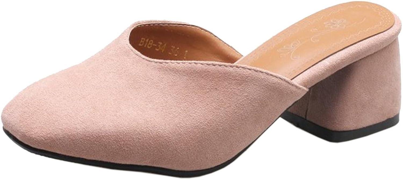 TAOFFEN Women Slip On Mule shoes