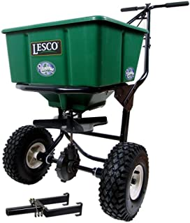 Lesco 50 Lb. Push Spreader 092807 with Rittenhouse Spreader Caddy (Bundle, 2 Items)
