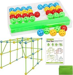 DIY tältleksak, ZoneYan byggsats pedagogisk leksak, barn lås bygga, fort konstruktion leksak, fästning leksak, byggsats fö...