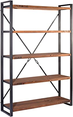 Indhouse - Industrie-Loft Regal aus Metall und Holz Michigan