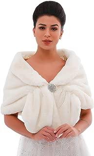 Aukmla 1920 Braut Hochzeit Kunstfell Schal Wrap Braut Fell Wraps und Schal für Frauen