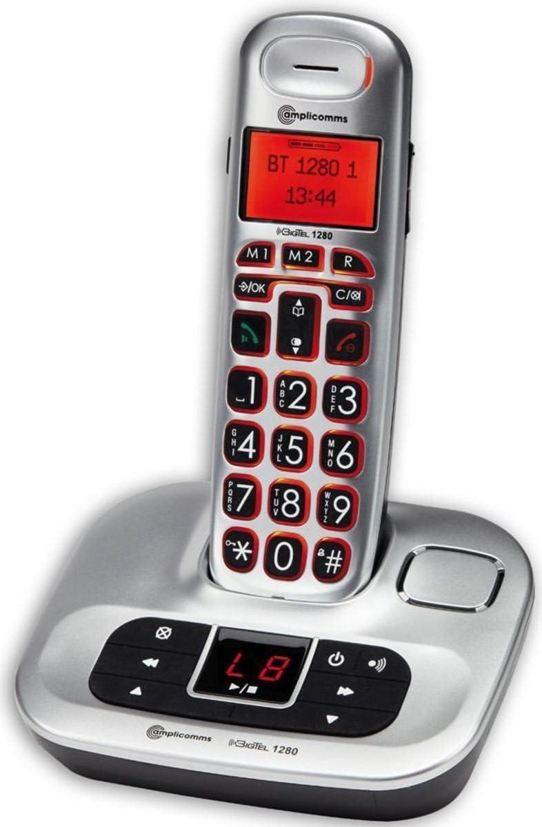 Amplicomms Bigtel 1201 Schnurloses Großtastentelefon Elektronik