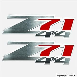 GOLD HOOK Set of 2 - Z71 Decals | Bedside Bed Panel | Chevy Silverado | GMC Sierra | Truck Sticker