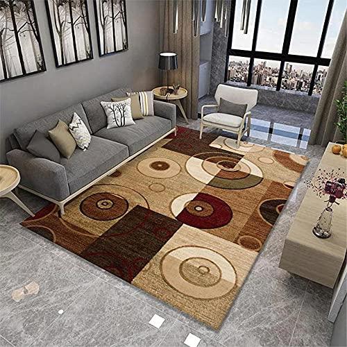 Alfombra aspiradora Alfombra Alfombra del Dormitorio de la Sala de Estar del patrón del círculo geométrico Verde Rojo marrón alfombras Dormitorio Modernas alfombras Salon 100*160cm