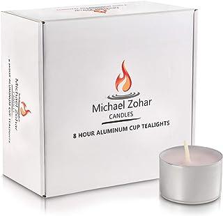 Michael Zohar Candles Unscented Tea Lights Candles | 100 Ultra Long Burning, Smokeless, Dripless Premium Tealight Candles...