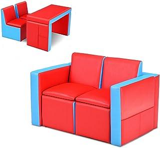 صندلی کودکان و نوجوانان Costzon ، میز و صندلی کودکان و نوجوانان چند منظوره 2 در یک ، 2 نیمکت صندلی با صندوق ذخیره سازی برای پسران و دختران