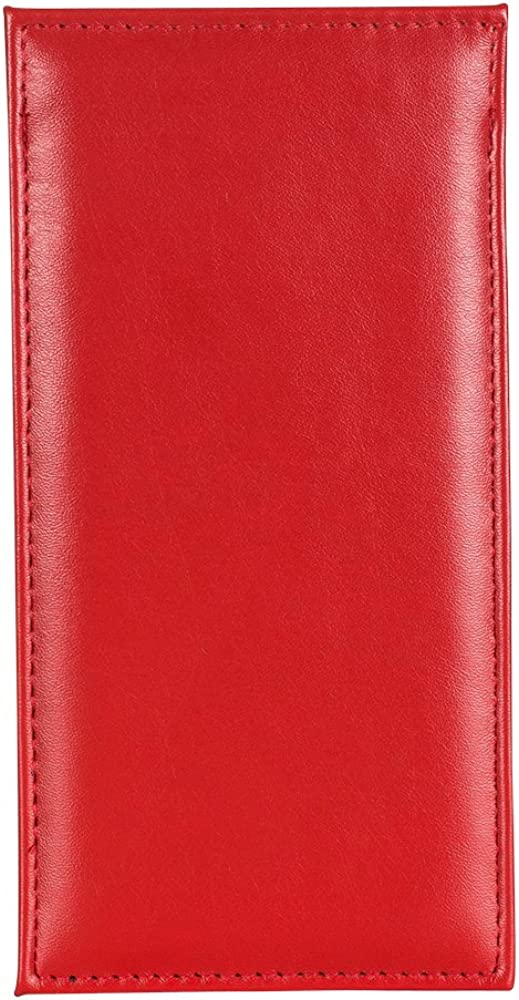 PU Leather Glasses Pouch - Premium Slim Sleeve Design -Holder and Protector Case