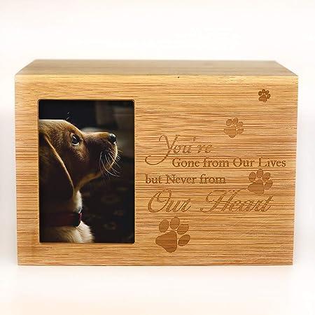 Personalised Laser Engraved Wooden  Dog Cat LPaw Pet  Keepsake Memory Box
