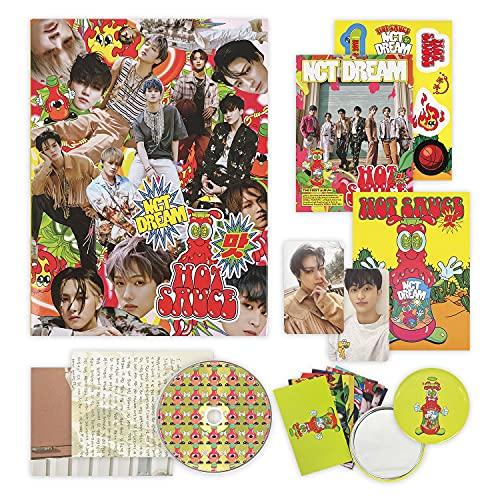 NCT DREAM 1st Full Album - HOT SAUCE [ CHILING Ver. ] CD + Photobook + Postcard Book...