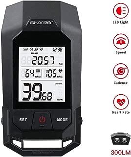 SHANREN Raptor II Pro Bluetooth Cycling Computer Wireless Bike,18 Functions Backlight LCD Display with Cadence Sensor Speedometer Odometer Calorie Heart Rate Counter Waterproof