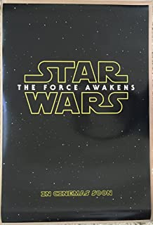 STAR WARS THE FORCE AWAKENS MOVIE POSTER 2 Sided ORIGINAL Advance 27x40 EPISODE VII