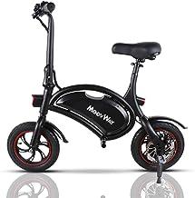 "TOEU Ebike 36V Bicicleta Electrica Plegable 12"", Bla"