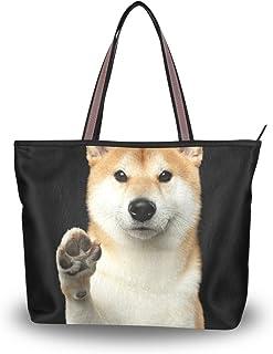 ALAZA Tote-Schulter-Tasche Niedliche Shiba Inu Hundehandtasche Große