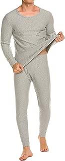 Anboer Men's Long Thermal Underwear Fleece Lined Winter Base Layering Set