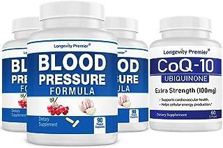 [Cardio Health Value Pack] Longevity Blood Pressure Formula 90 caps x 3 Bottles with 1 Free Bottle of CoQ10 [60 softgels]