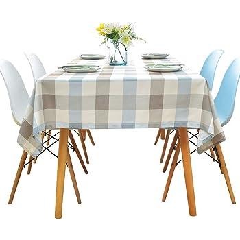 Liny Mantel Impermeable Rectangular Manteles de Mesa Antimanchas para Tabla de Cena de la Familia Mesa de Comedor Cocina,Picnic 140 * 180CM/140 * 240CM