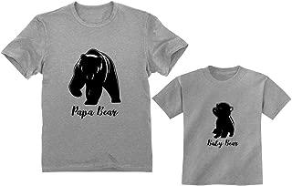 Papa & Baby Bear Men's T-Shirt & Infant Shirt Set Father & Son Matching Set