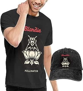 GabrielR Men's Blondie Pollinator T-Shirt Washed Denim Baseball Dad Hats Black