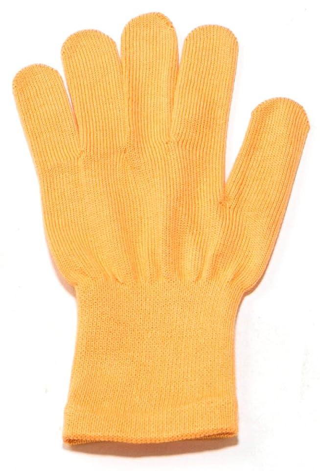 顔料被害者コーナーイチーナ【ハンドケア手袋ショート】天然保湿効果配合繊維(レディース?フリーサイズ) (オレンジ)