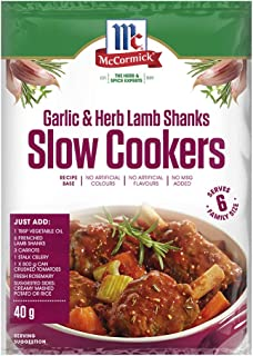 McCormick Slow Cookers Garlic and Herb Lamb Shank Recipe Base 40 g, 40 g