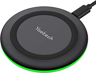 Yootech Wireless Charger, Qi-Certified 10W Max Fast Wireless Charging Pad Compatible with iPhone 12/12 Mini/12 Pro Max/SE ...