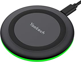 Yootech Wireless Charger, Qi-Certified 10W Max Fast Wireless Charging Pad Compatible with iPhone 12/12 Mini/12 Pro Max/SE 2020/11 Pro Max,Samsung Galaxy S20/Note 10/S10/S9,AirPods Pro(No AC Adapter)