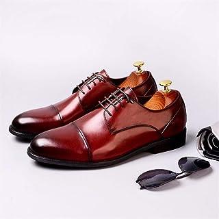 Enjoy4Beauty - Zapatos de vestir para hombre, zapatos de negocios británicos, zapatos casuales para hombre (color: claret,...