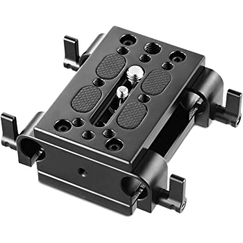 15mm Rod Clamp Swivel Clip for Camera Rail Rig Cage Stabilizer System 2 Hole