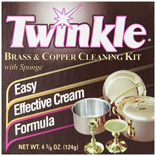 Twinkle Brass & Copper Cleaning Kit, Easy Effective Cream Formula, 4.38-Ounce Box (Pack of 6)