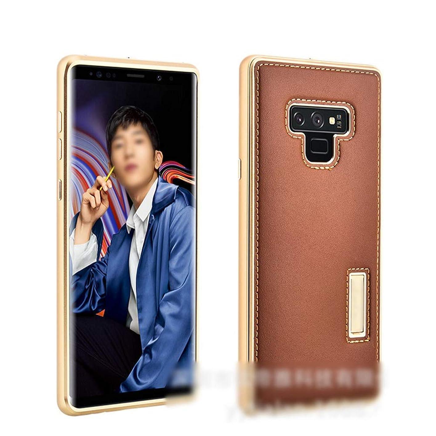 タイト軽減下位Tonglilili 電話ケース、革ケースサムスンの新しい落下防止電話ケース、サムスンS9プラスの電話ケース、S9、Note9、S8プラス、Note8、S8 (Color : ブラウン, Edition : S9 Plus)