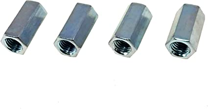 Thread Size: 1//2-13 Width: 5//8 Length: 1 1//4 Quantity: 50 Zinc Plated A563 Grade A Steel Hex Coupling Nuts 1//2-13 x 5//8 x 1 1//4