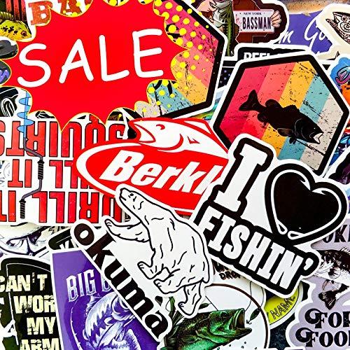Grappige Creatieve Persoonlijkheid Outdoor Ga Vissen Stickers Voor Raam Laptop Skateboard Vissen Drijf Accessoires Leuke Stickers50