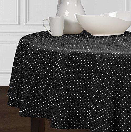 A LuxeHome Nero e Bianco in Stile Moderno, Mini a Pois, tovaglie Sala da Pranzo Cucina 213,4cm